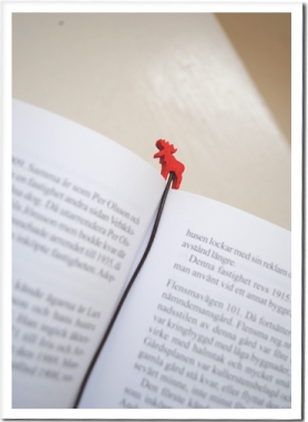 Bookmark Elk - red