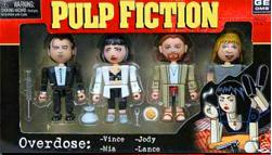 Pulp Fiction Block Figurer - Overdose - (4-pack)