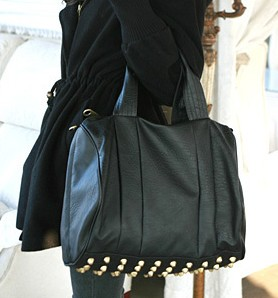 Fashion studded bag black