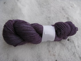 Hand dyed Blue Face Liecester purple
