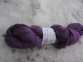 Hand dyed Babyalpaca silk purple