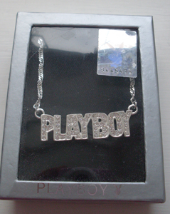 Playboy Bunny necklace.
