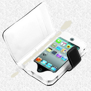 Leather Case Cover Wallet for iPod Touch 4 4th 8GB 16GB