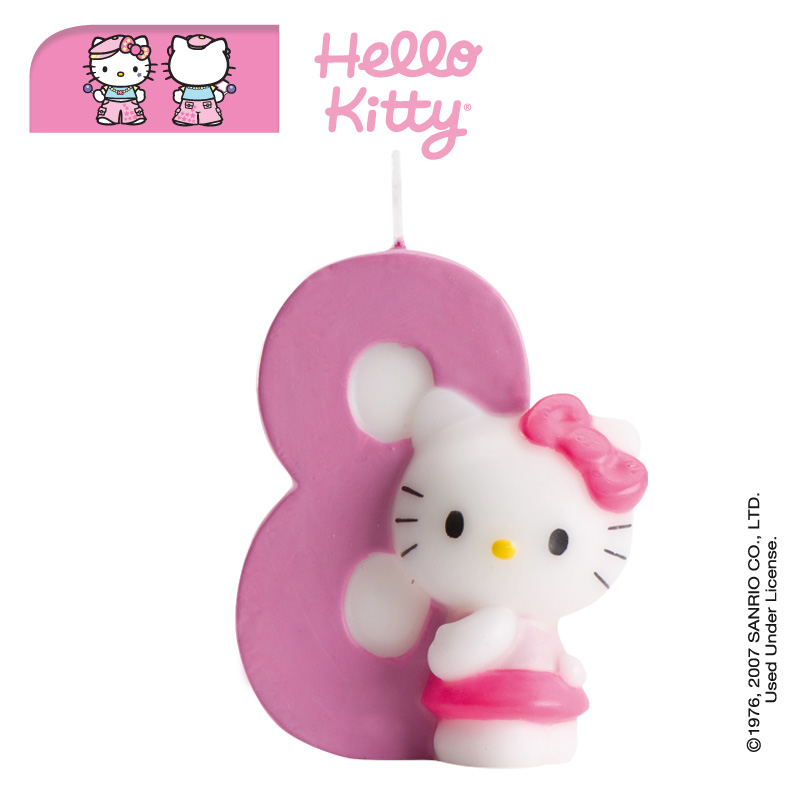 Str 246 Ssel Amp Annat Hello Kitty Number 8 Candle