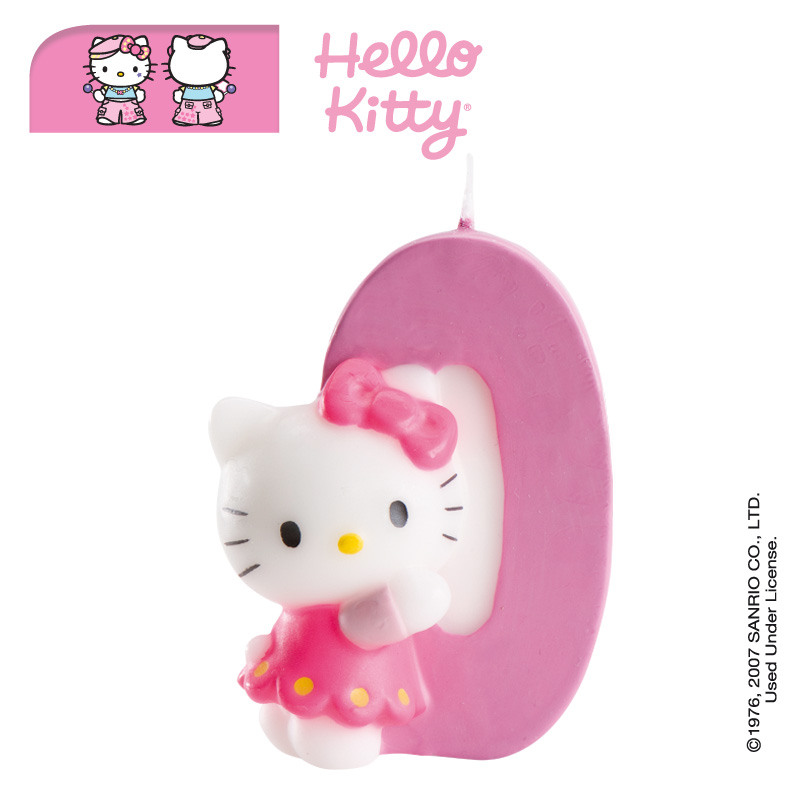 b49f55845 Hello Kitty Number 0 Candle · Click to enlarge image
