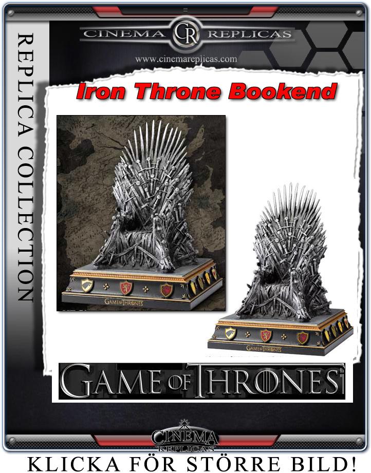 Cinema Replicas Game Of Thrones Iron Throne Bookend