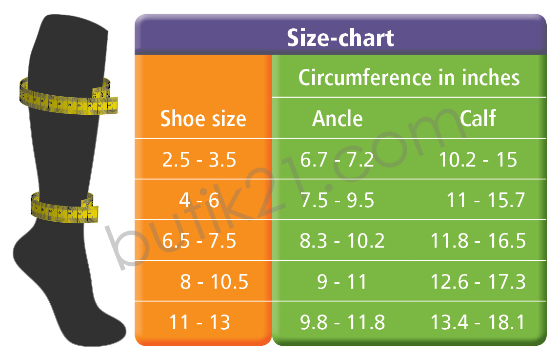 "Size Chart Compression Socks ""Design"""