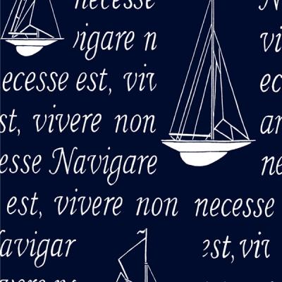 Acrylatväv Navigare-Skepp Ohoy