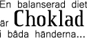 Text - Choklad swedish