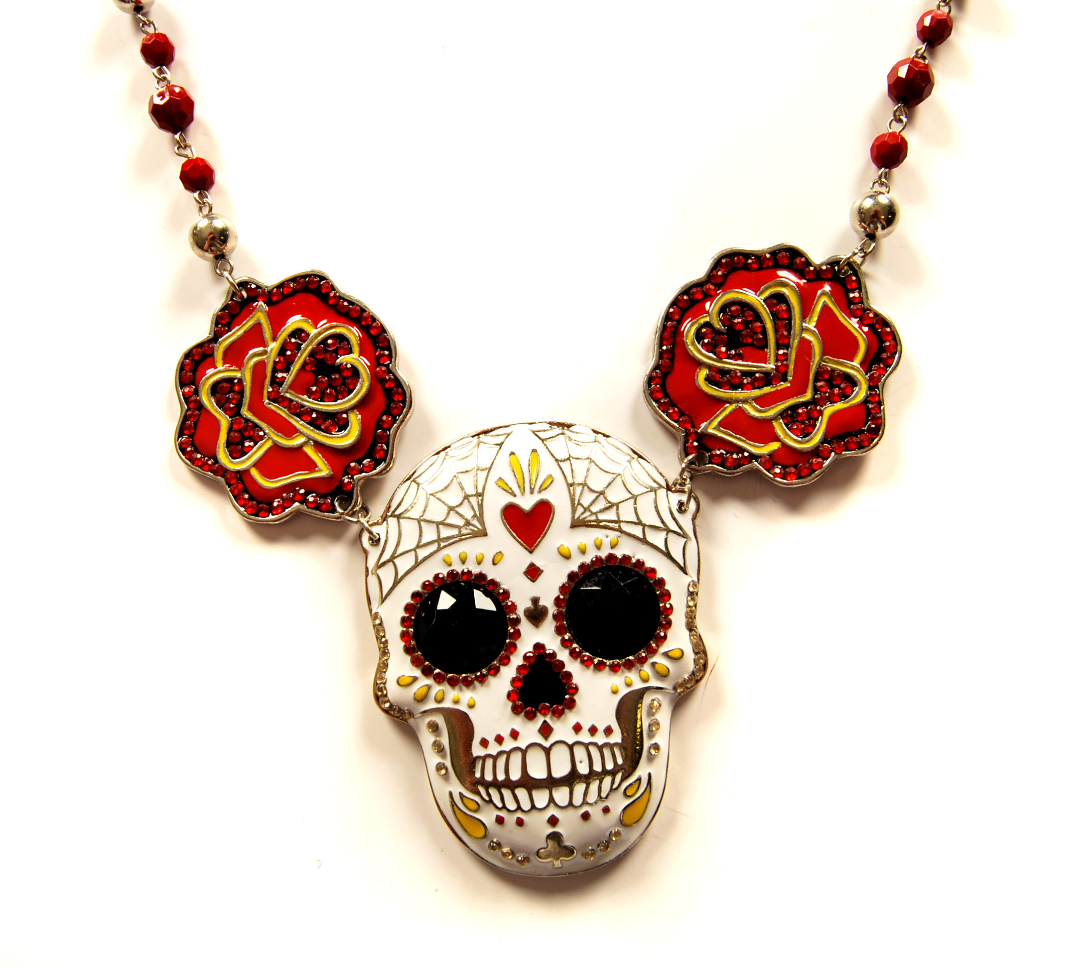 Xplosion Too Fast Mexican Skull Necklace