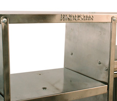 Shelf Stainless steel W107 x H61 x 25 Kitchen stand