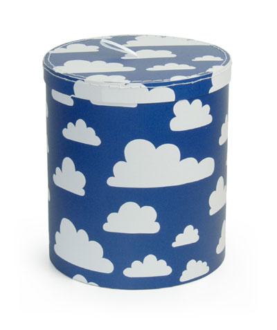 Förvaring - Moln förvaring rund mellan blå papp - Färg & Form