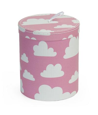 Förvaring - Moln förvaring rund liten rosa papp - Färg & Form