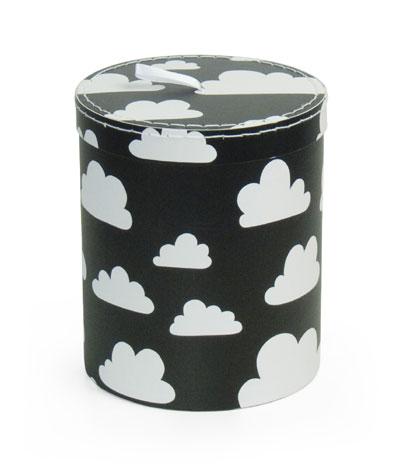 Förvaring - Moln förvaring rund liten svart papp - Färg & Form
