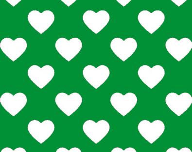 Tyg - Gröna Hjärtan