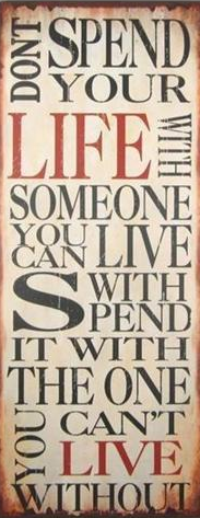 Emaljskylt / Dont spend your life...