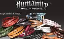 Humanity for all / Wrap around braclet/ Lila.