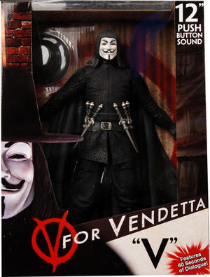 "V for Vendetta 12"" Talande Action Figur ! ""V"""