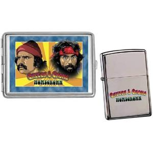 Cheech &amp; Chong - Etui &amp; &quot;Zippo-Tndare&quot; - Neca -