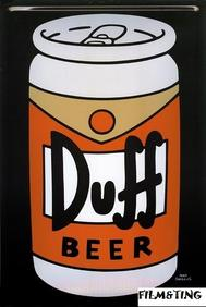 Simpsons - Duff Beer - Plåtskylt -