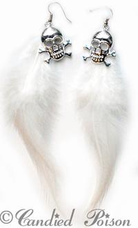 Wings & Skulls Fjäderörhängen