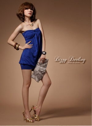 Amber dress blue