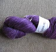 Hand dyed Merinosilk purple