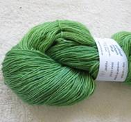 Hand dyed sock yarn Mohair greenyellow