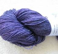 Hand dyed sock yarn bambu purpleblue