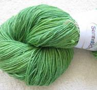 Hand dyed sock yarn bamboo green