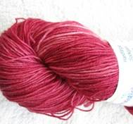 Hand dyed sock yarn nylon red