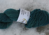 Hand dyed wool/cashmere greenblue