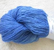 Hand dyed sock yarn silk blue
