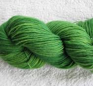 Hand dyed Blue Face Liecester greenyellow
