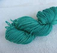 Hand dyed Merinosilk greenblueturqoise