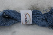 Hand dyed silk blue