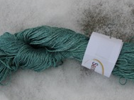 Hand dyed silk bluegreen