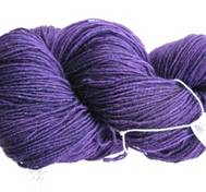 Hand dyed Blue Face Liecester purpleblue
