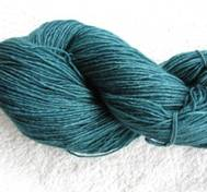 Hand dyed Blue Face Liecester greenblue