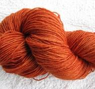 Hand dyed Blue Face Liecester orange
