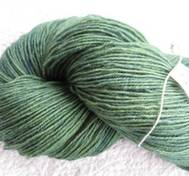 Hand dyed Blue Face Liecester green