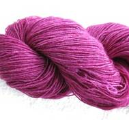 Hand dyed Blue Face Liecester cerise