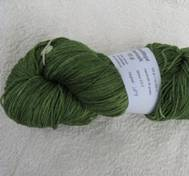 Hand dyed Merinosilk green