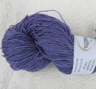 Hand dyed sock yarn bambu purple