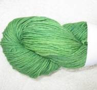 Hand dyed sock yarn bambu green