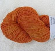 Hand dyed sock yarn bambu orange