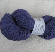 Hand dyed sock yarn silk purple