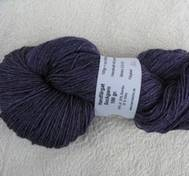 Hand dyed sock yarn silk purplepink