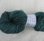 Hand dyed sock yarn silk teal