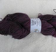 Hand dyed sock yarn silk dark cerice